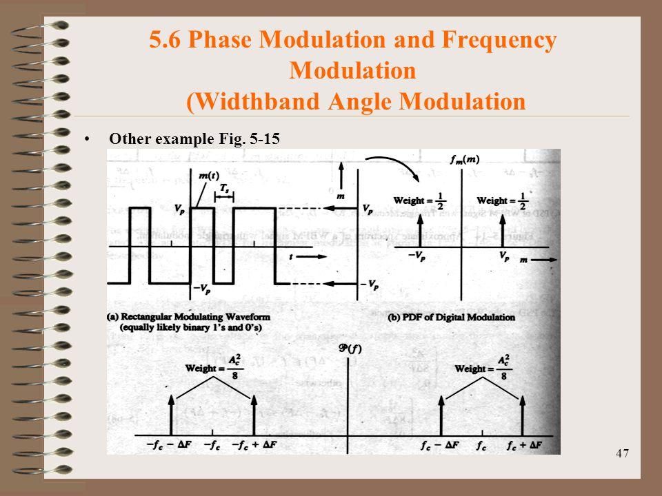 5.6 Phase Modulation and Frequency Modulation (Widthband Angle Modulation