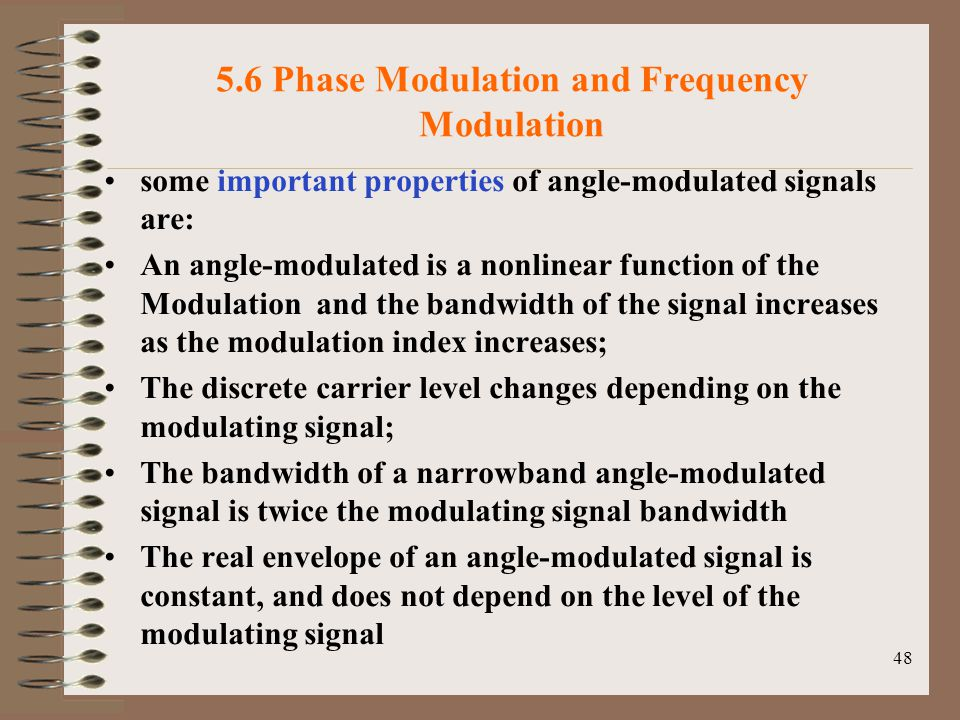 5.6 Phase Modulation and Frequency Modulation