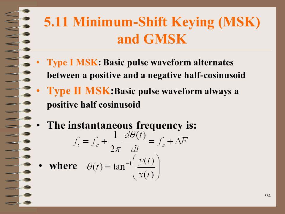 5.11 Minimum-Shift Keying (MSK) and GMSK