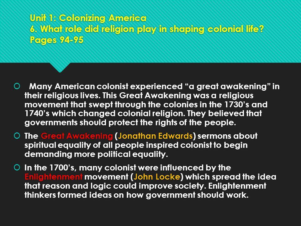 Unit 1: Colonizing America 6