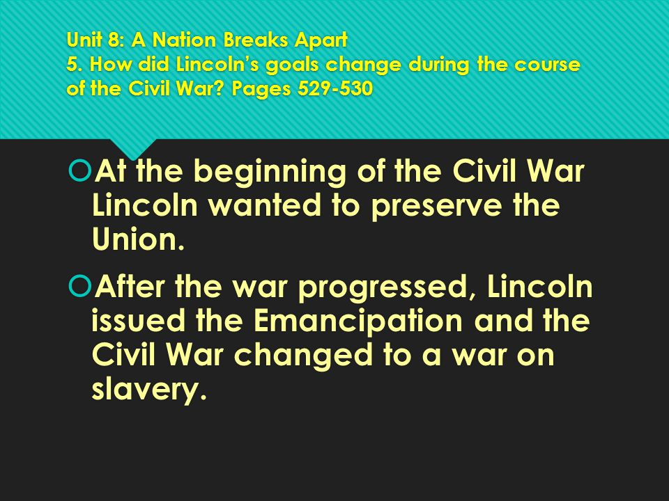 Unit 8: A Nation Breaks Apart 5