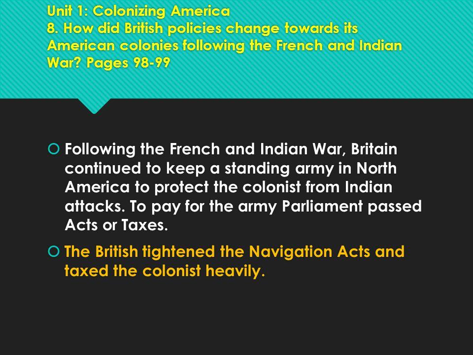 Unit 1: Colonizing America 8