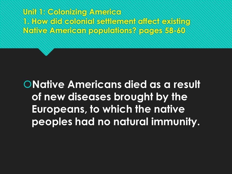 Unit 1: Colonizing America 1