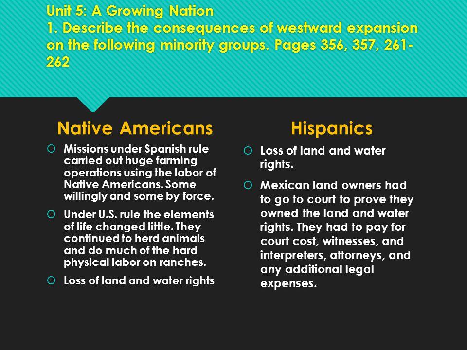 Native Americans Hispanics