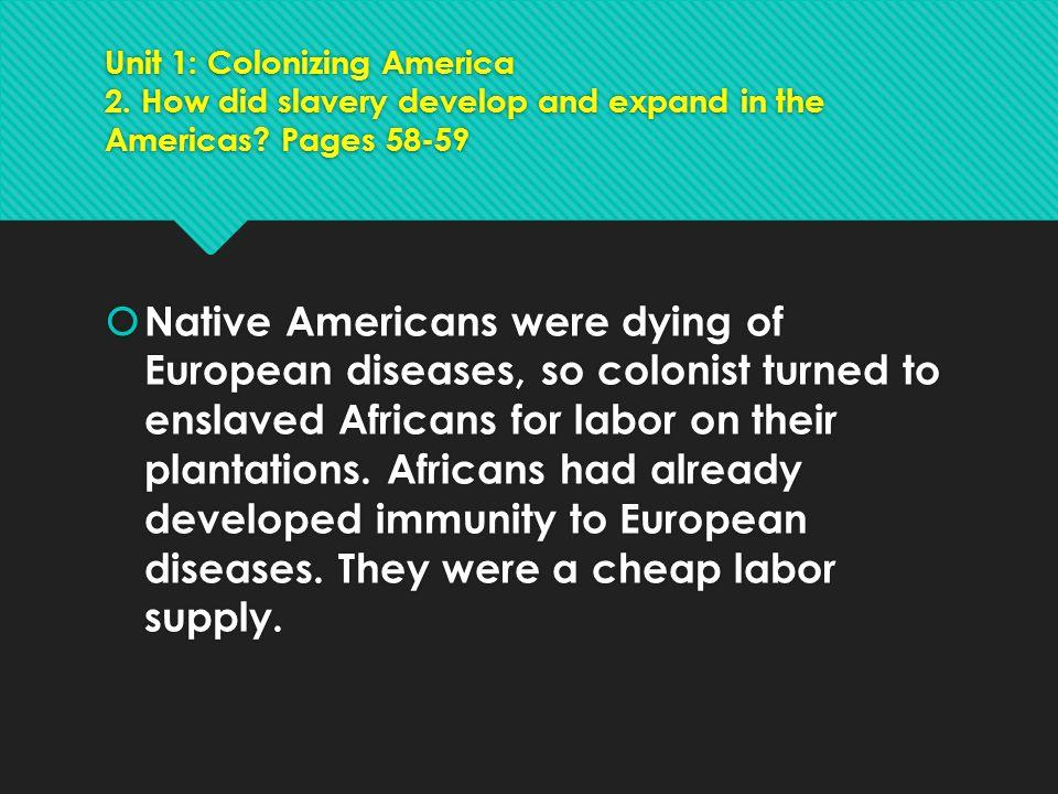 Unit 1: Colonizing America 2
