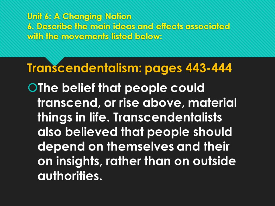 Transcendentalism: pages 443-444