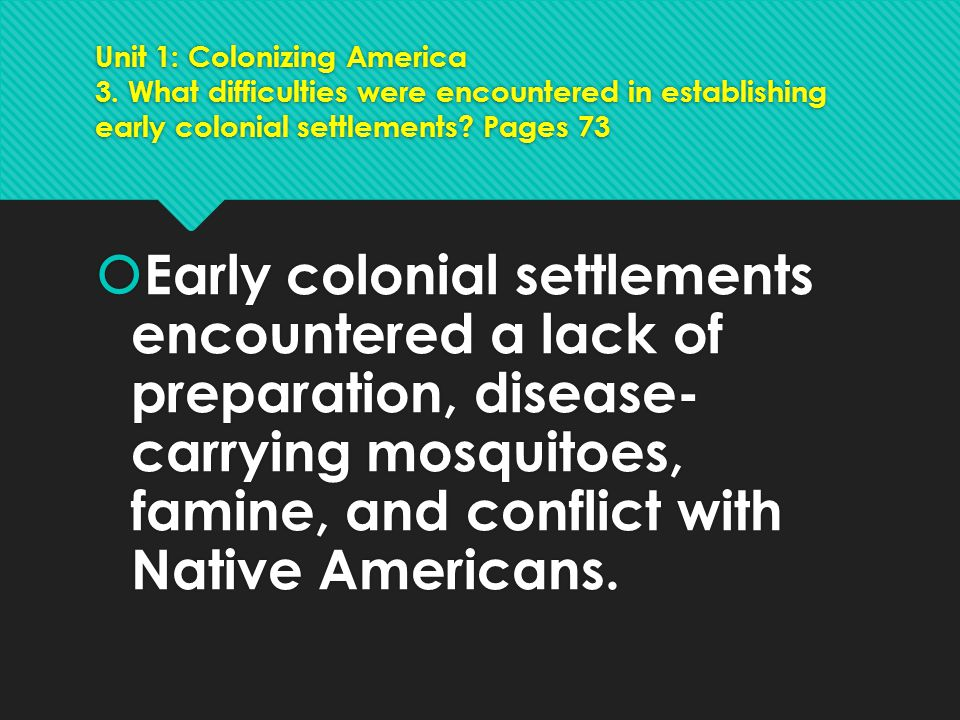 Unit 1: Colonizing America 3