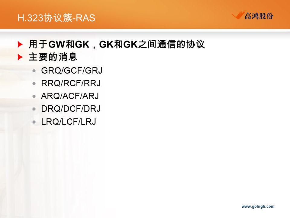 用于GW和GK,GK和GK之间通信的协议 主要的消息