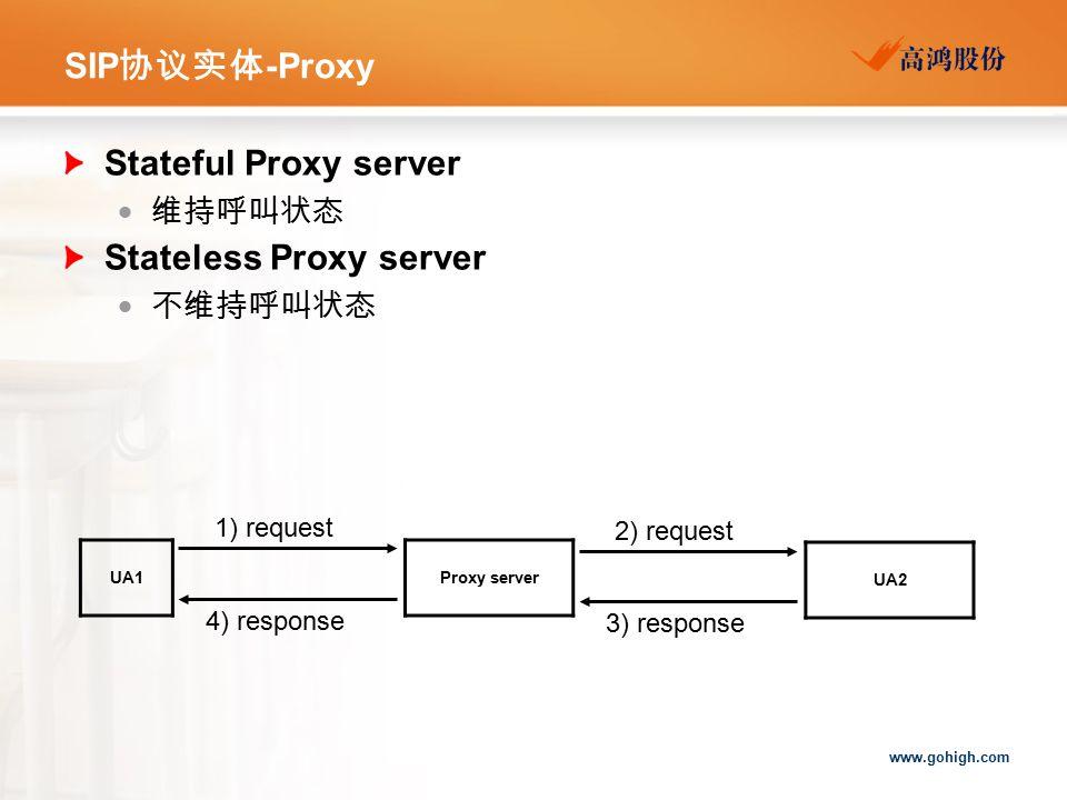 Stateless Proxy server