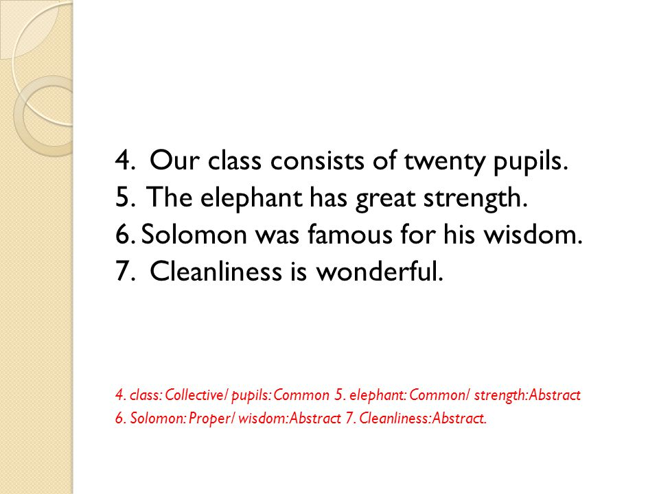 4. Our class consists of twenty pupils.