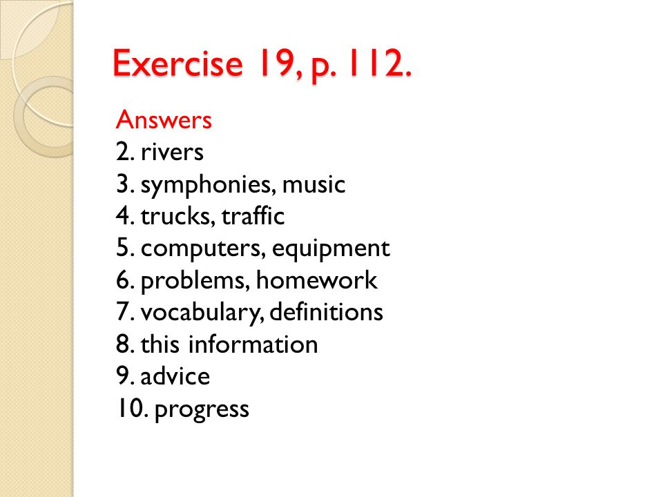 Exercise 19, p. 112.
