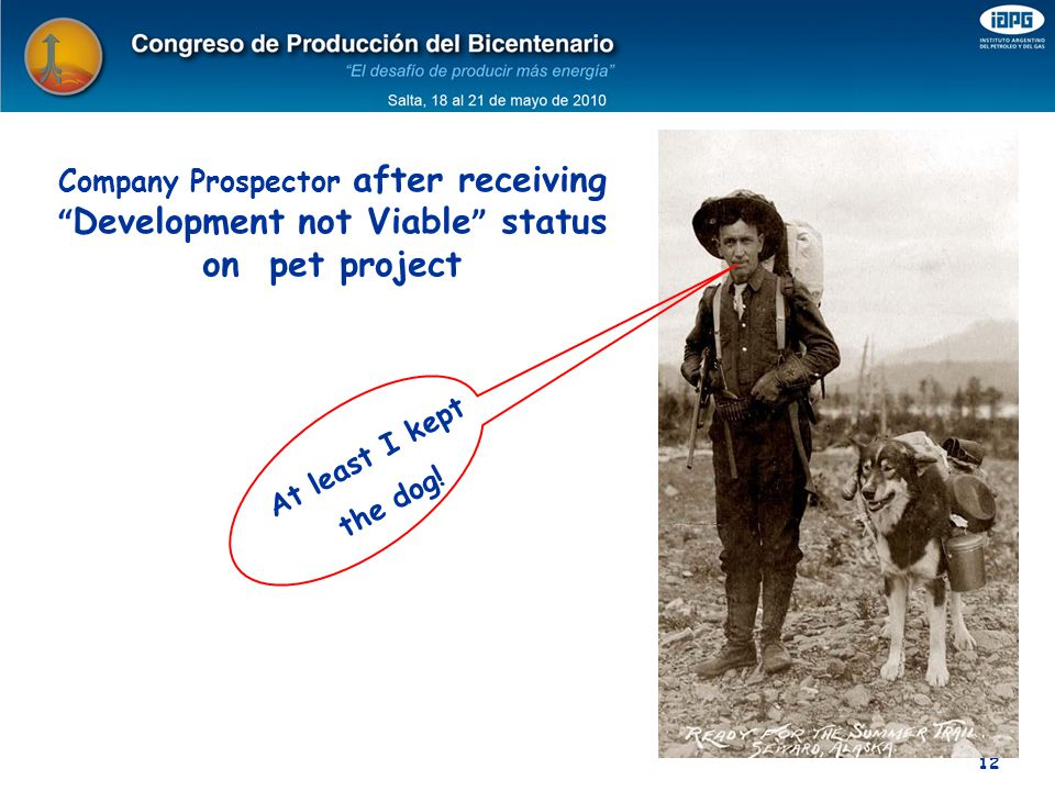 Company Prospector after receiving Development not Viable status on pet project