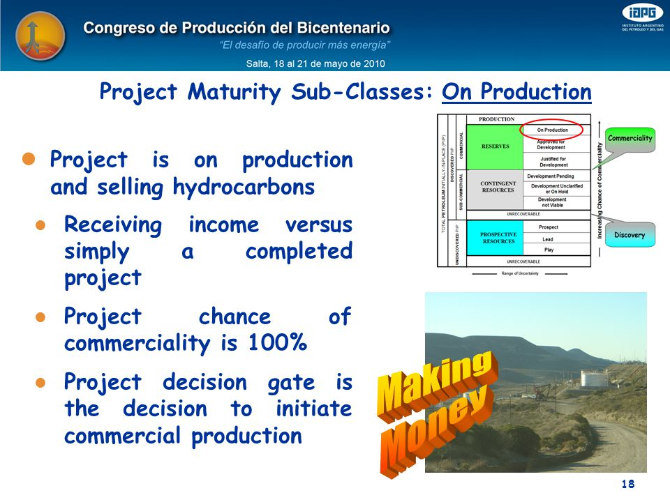 Project Maturity Sub-Classes: On Production
