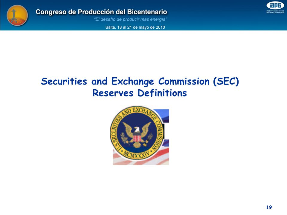 Securities and Exchange Commission (SEC) Reserves Definitions