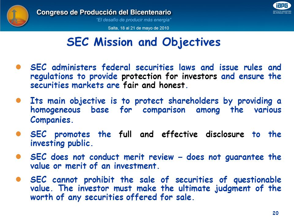 SEC Mission and Objectives