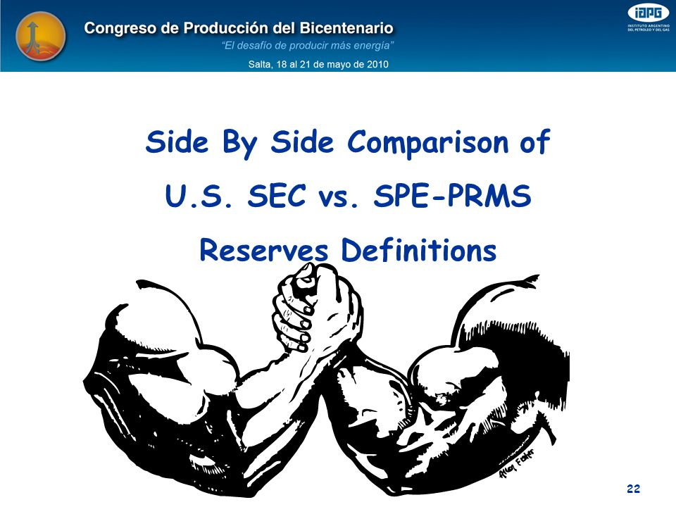 Side By Side Comparison of U.S. SEC vs. SPE-PRMS Reserves Definitions