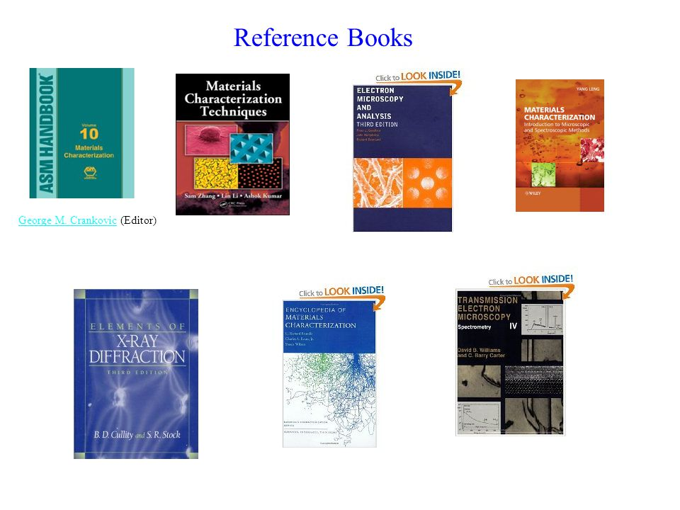 Reference Books George M. Crankovic (Editor)