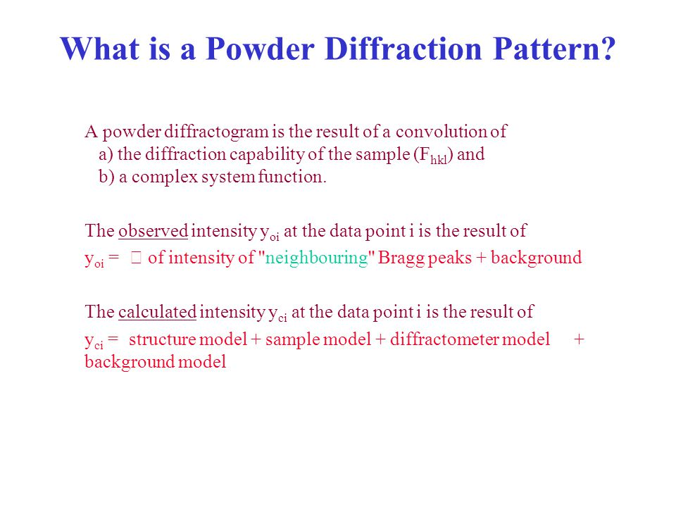 What is a Powder Diffraction Pattern