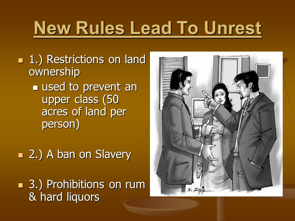 New Rules Lead To Unrest