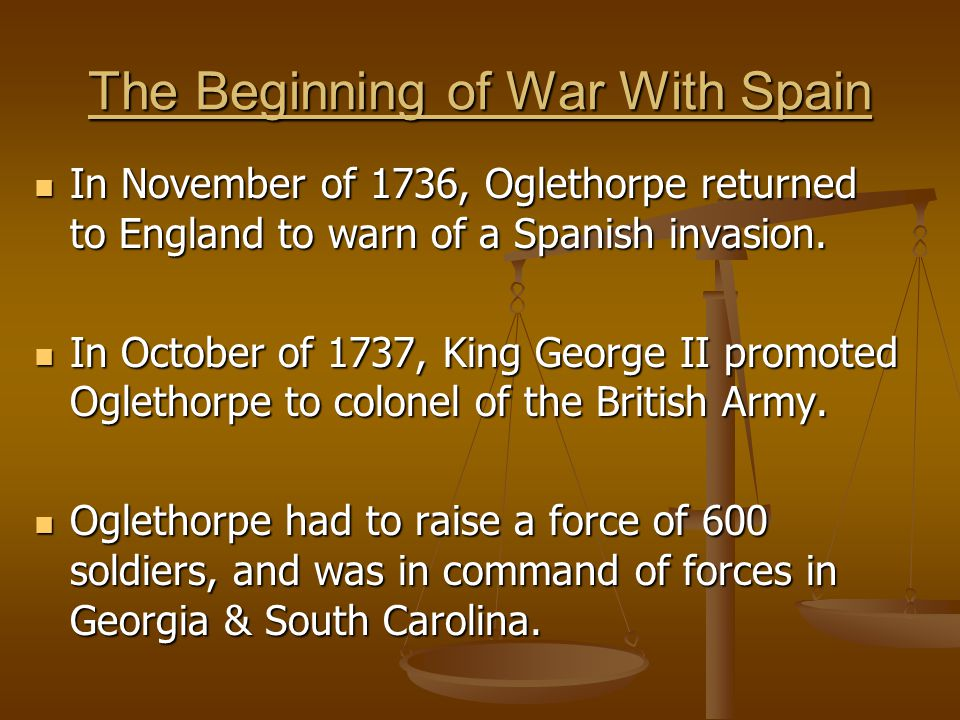 The Beginning of War With Spain