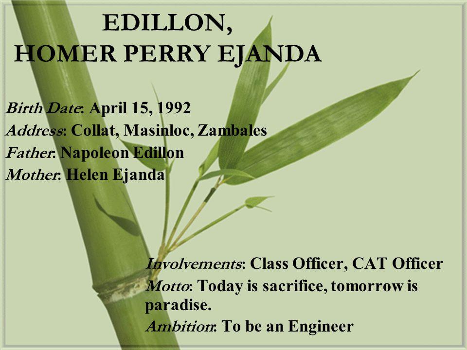 EDILLON, HOMER PERRY EJANDA