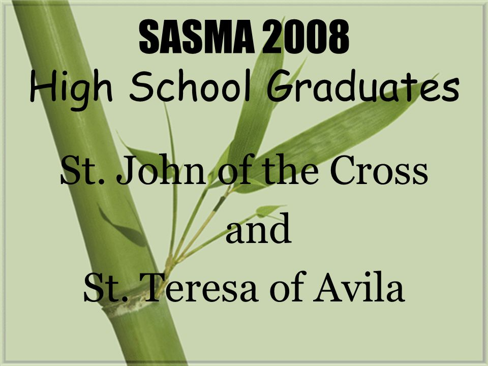 SASMA 2008 High School Graduates