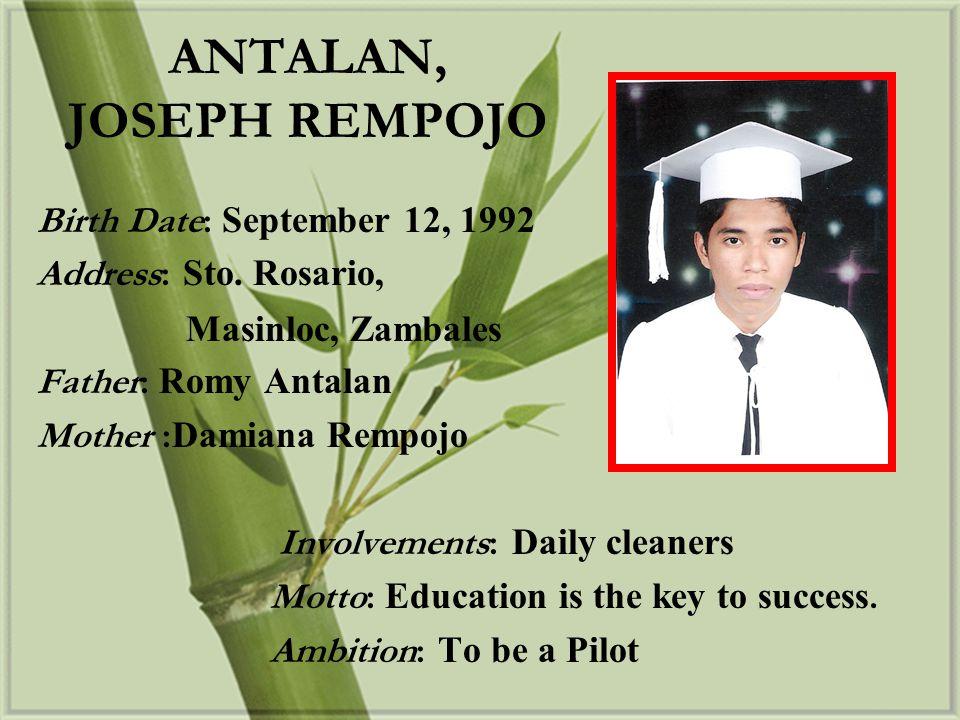 ANTALAN, JOSEPH REMPOJO