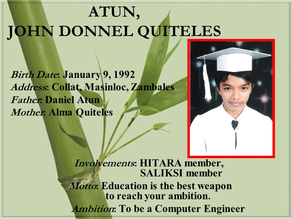 ATUN, JOHN DONNEL QUITELES