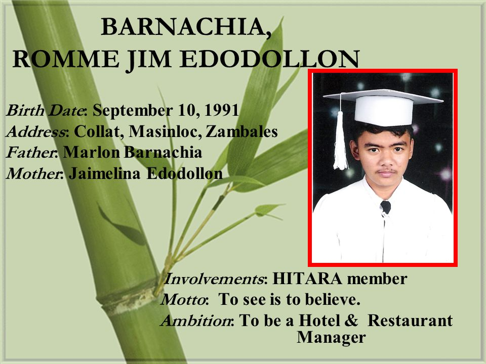 BARNACHIA, ROMME JIM EDODOLLON