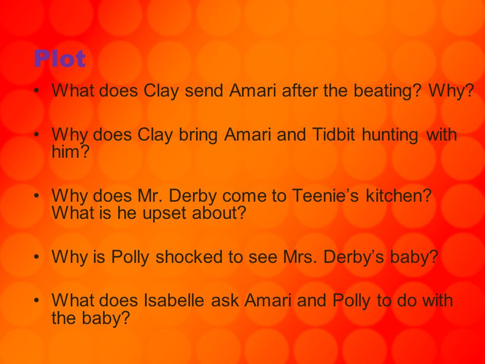 Plot What does Clay send Amari after the beating Why