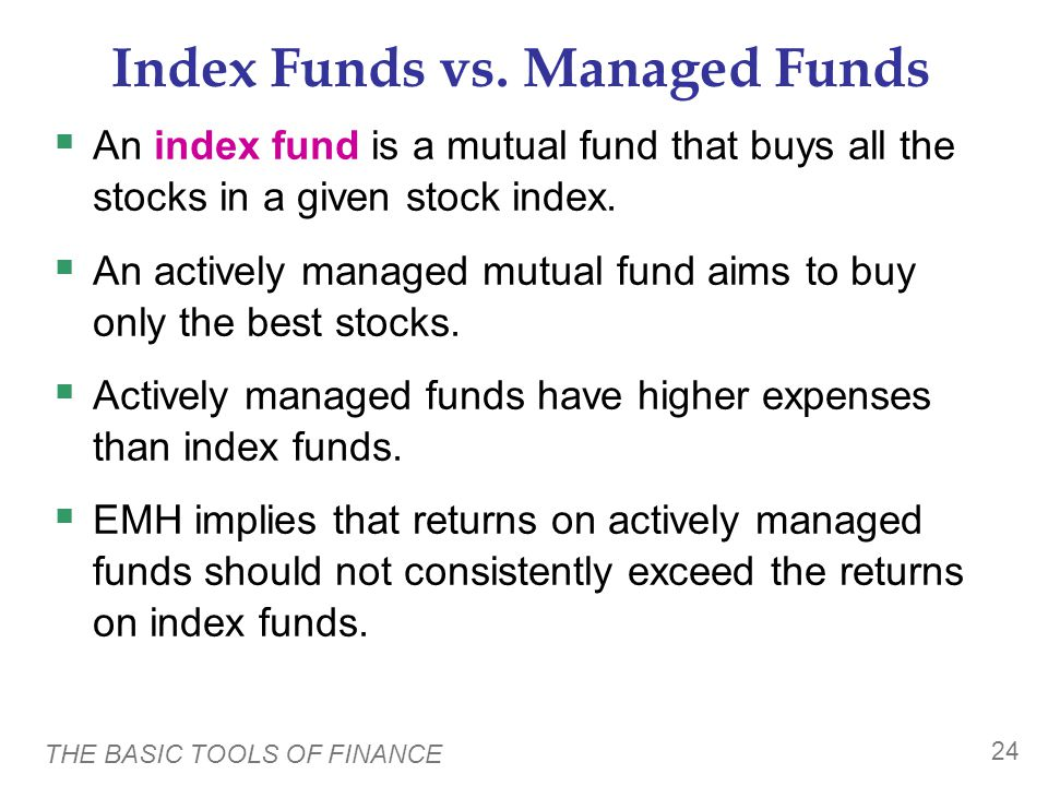 Index Funds vs. Managed Funds
