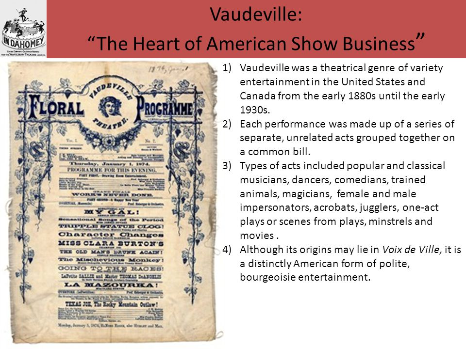 Vaudeville: The Heart of American Show Business