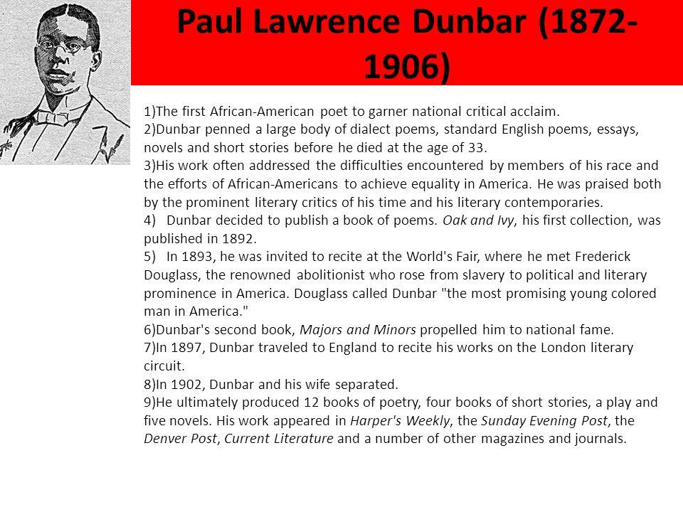 Paul Lawrence Dunbar (1872-1906)