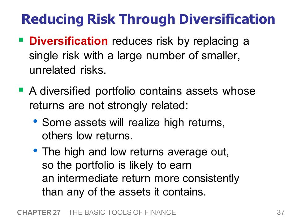 Reducing Risk Through Diversification