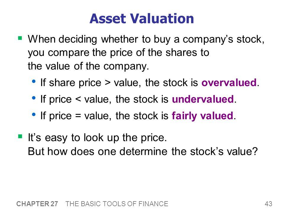 A C T I V E L E A R N I N G 3: Valuing a share of stock