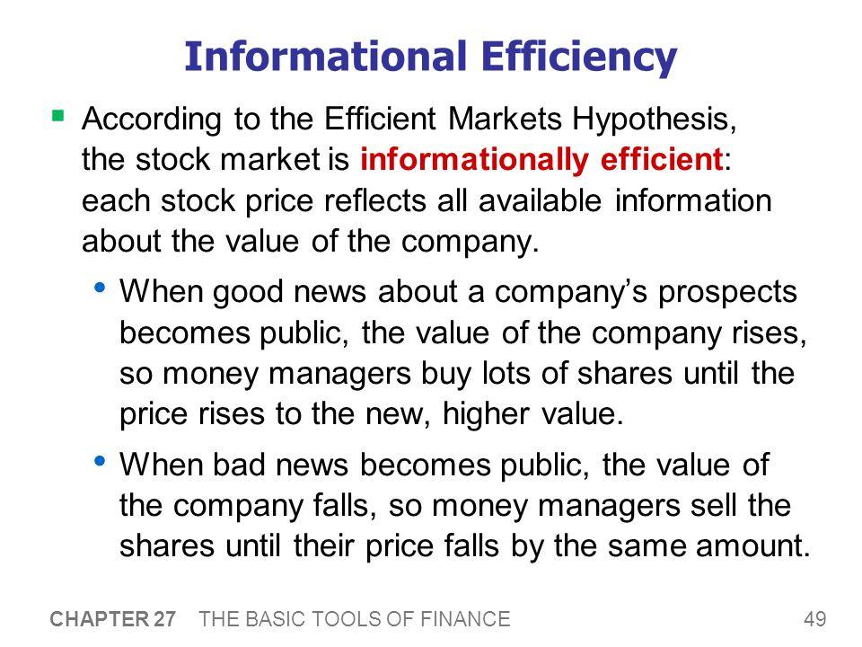The Efficient Markets Hypothesis