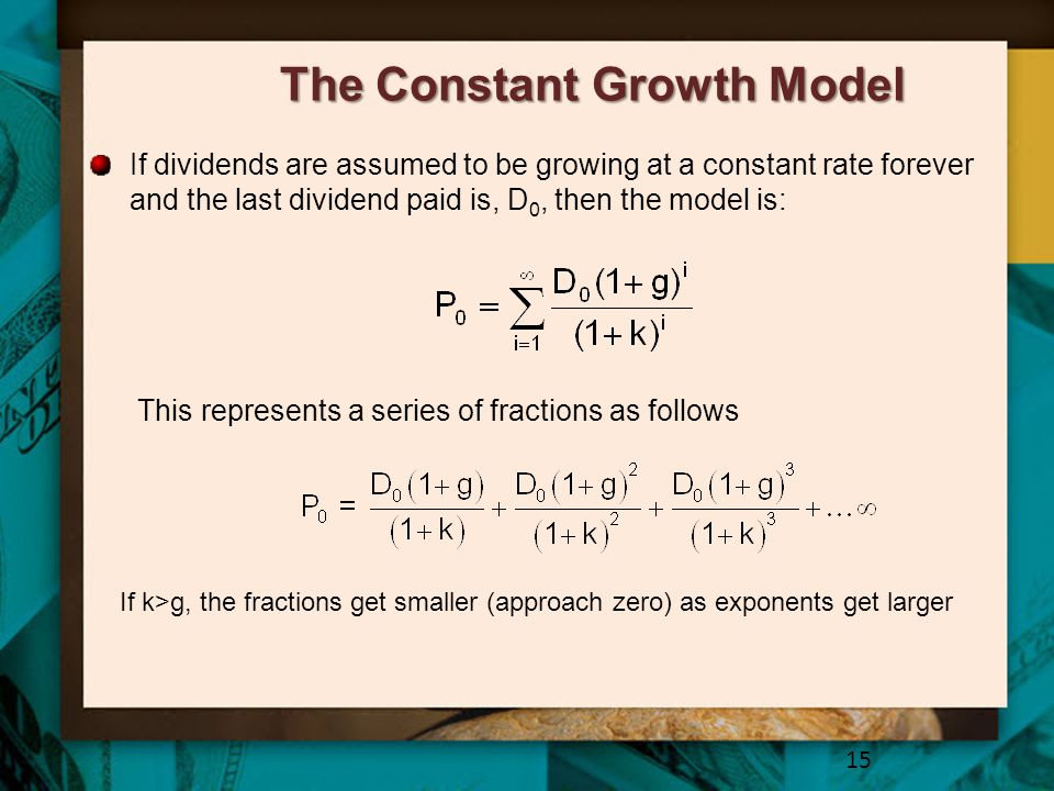 The Constant Growth Model