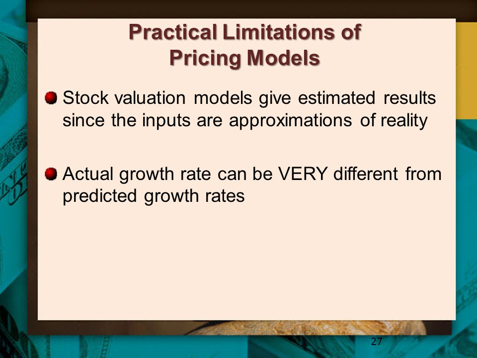 Practical Limitations of Pricing Models