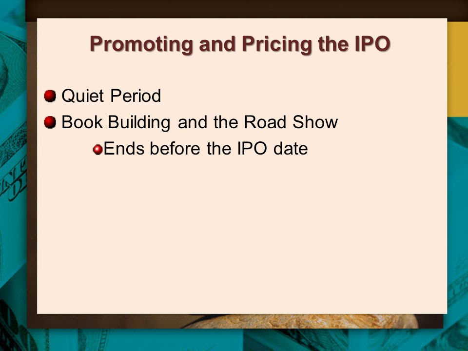 Promoting and Pricing the IPO