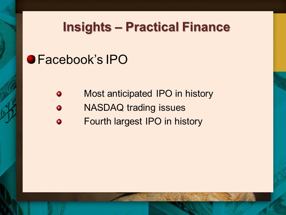 Insights – Practical Finance