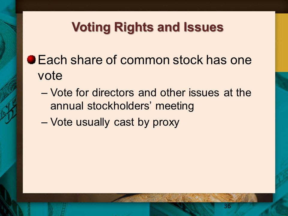 Voting Rights and Issues