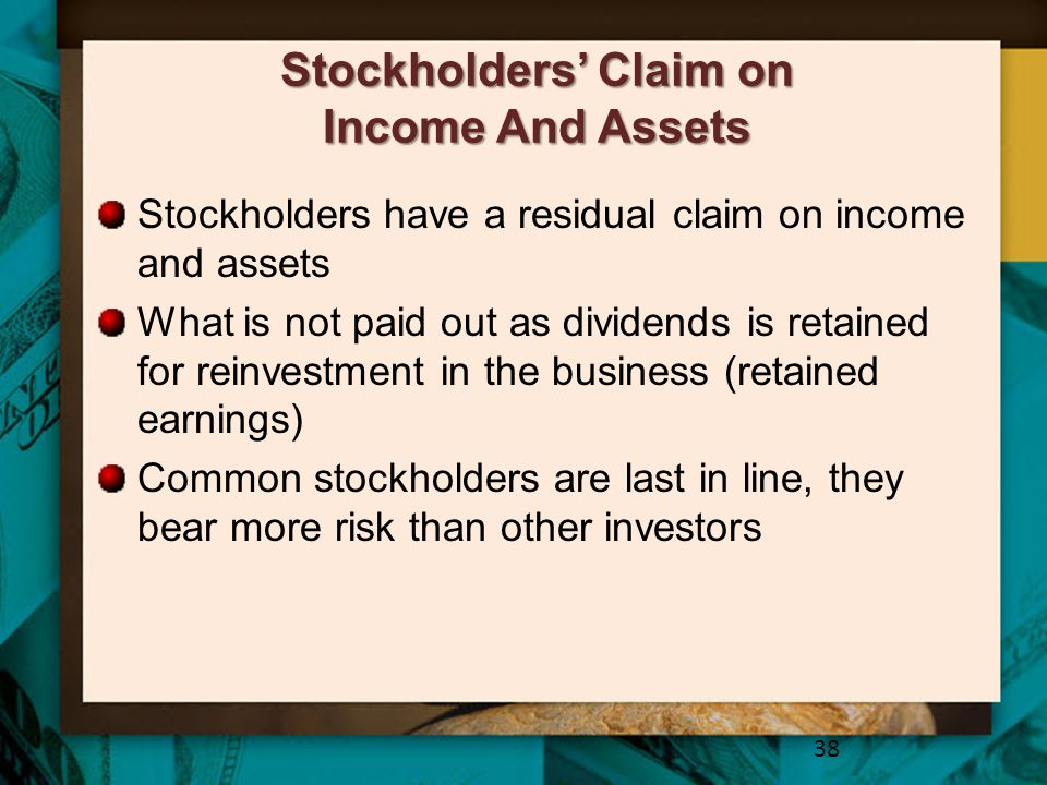 Stockholders' Claim on Income And Assets