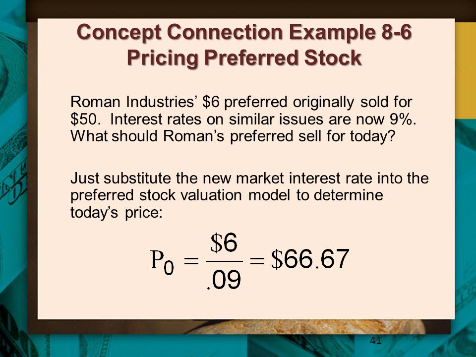 Concept Connection Example 8-6 Pricing Preferred Stock