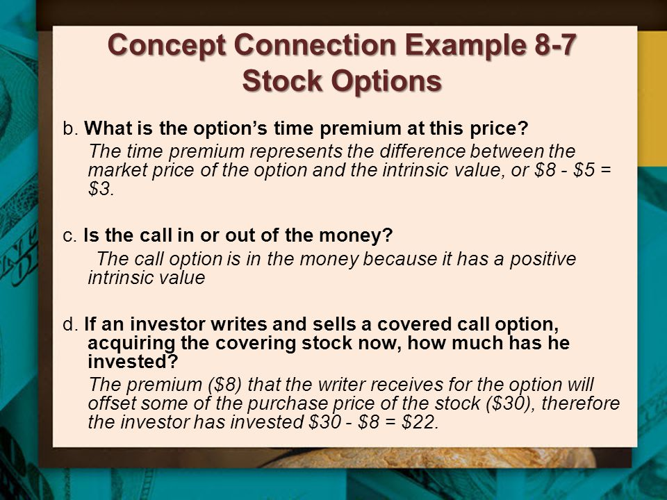 Concept Connection Example 8-7 Stock Options