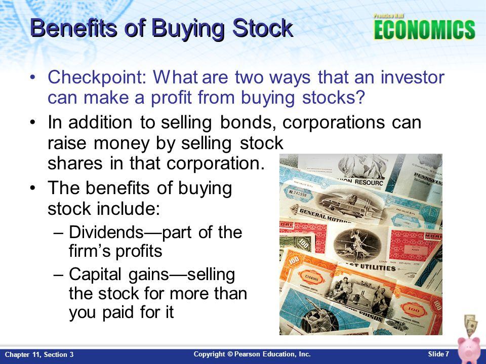 Benefits of Buying Stock