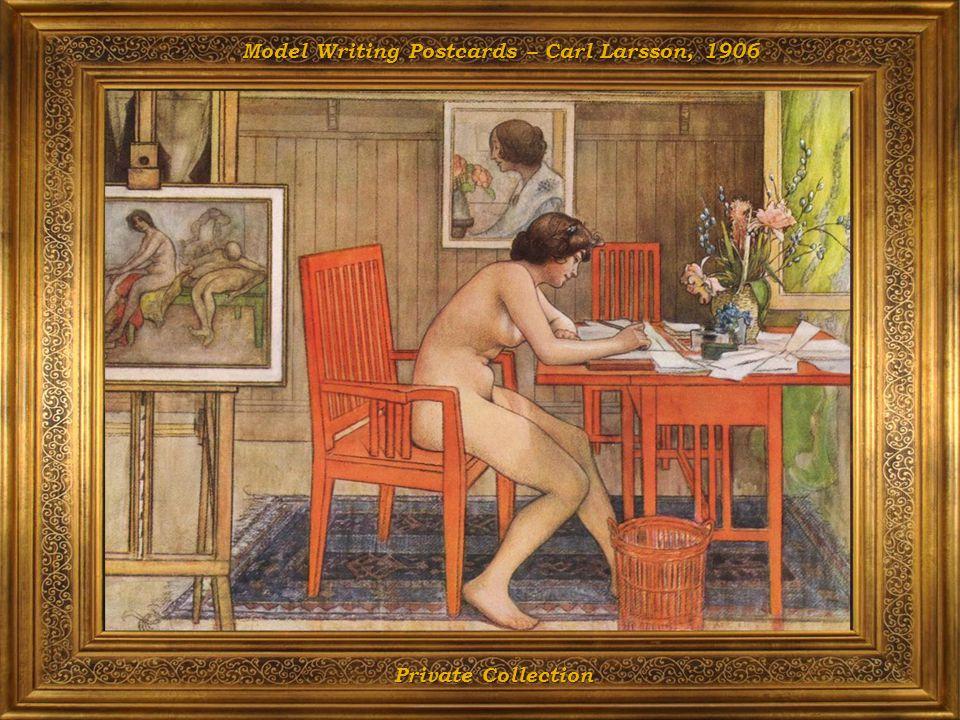 Model Writing Postcards – Carl Larsson, 1906