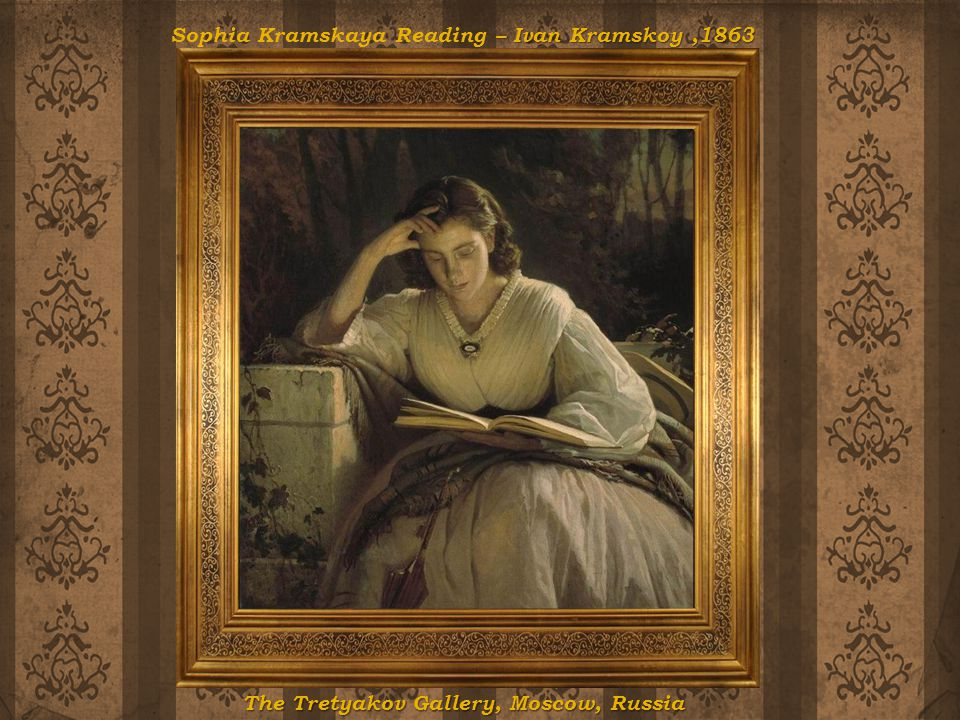 Sophia Kramskaya Reading – Ivan Kramskoy ,1863