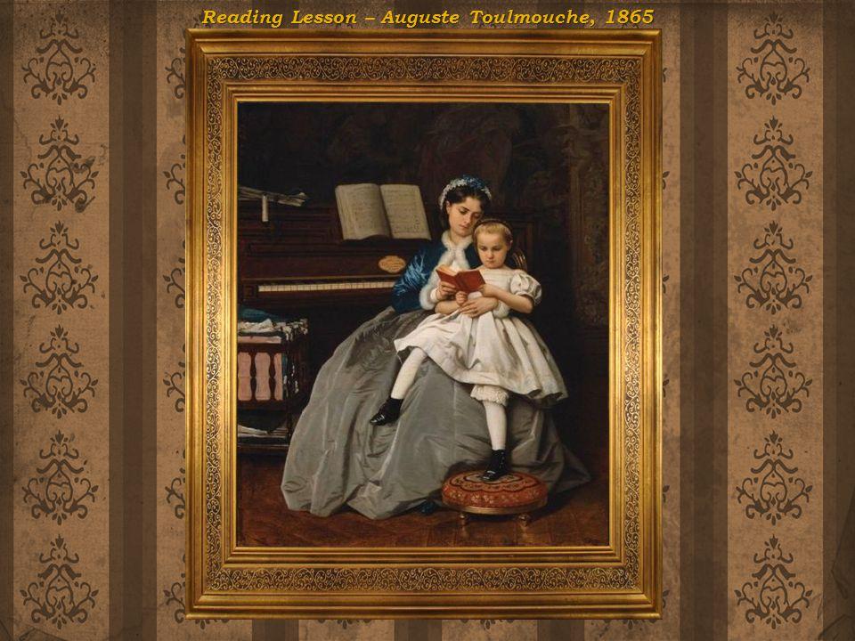 Reading Lesson – Auguste Toulmouche, 1865