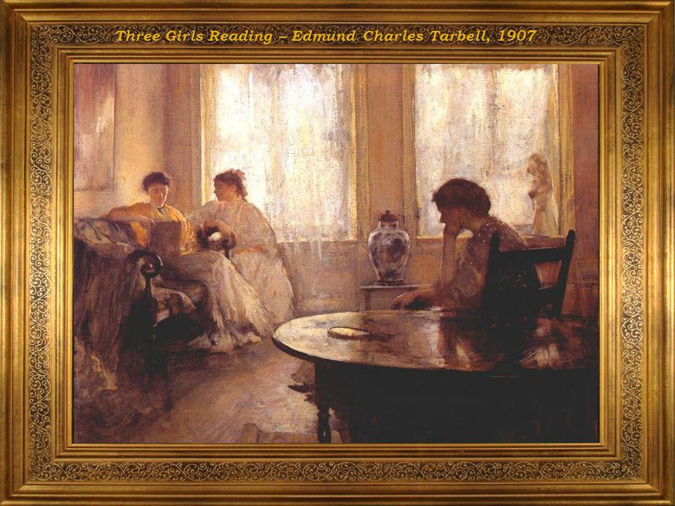 Three Girls Reading – Edmund Charles Tarbell, 1907