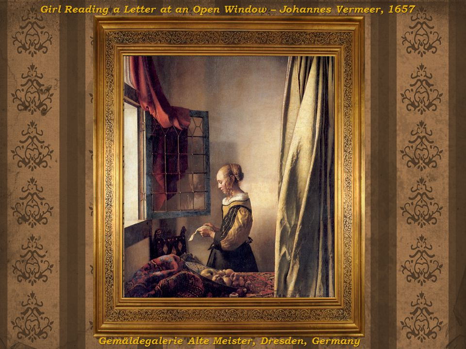 Girl Reading a Letter at an Open Window – Johannes Vermeer, 1657